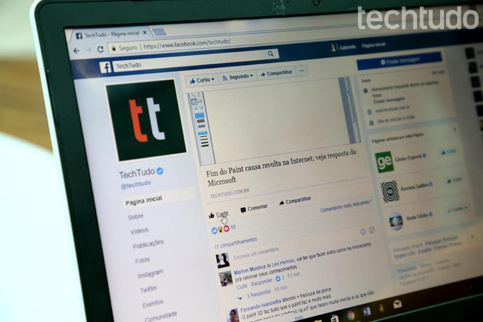 Facebook langes sel neljapäeval Foto: Carolina Ochsendorf / TechTudo