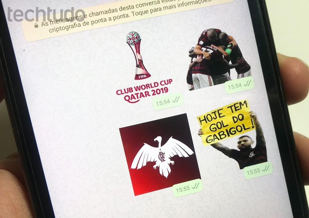Flamengo kleebised WhatsAppile: vaadake rakendust koos foto emotikonidega: Rodrigo Fernandes / TechTudo