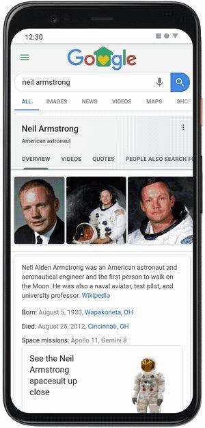 Google AR | Neil Armstrong