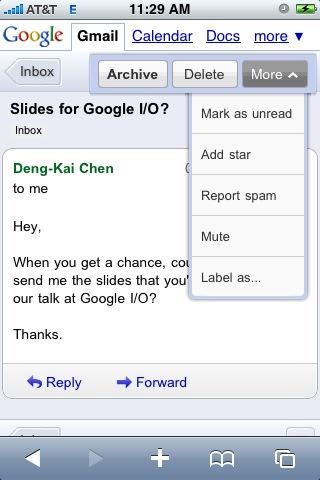 Gmail Mobile rakendab silti Google Discovery