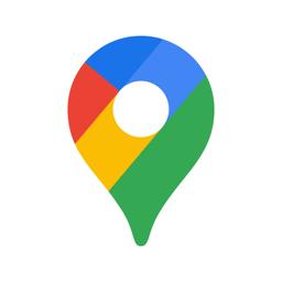 Google Mapsi rakenduse ikoon - liiklus ja toit