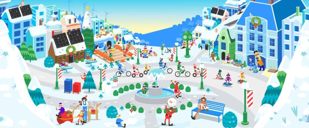 Google lõi 2019. aasta jõulude ajal lastele mõeldud atraktsioonidega portaali Vila do Plo Norte. Foto: Divulgao / Google