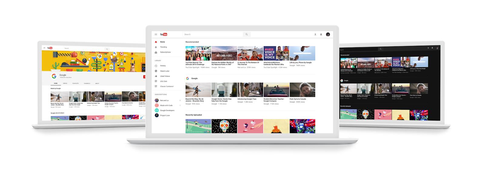 Google tutvustab YouTube'ile visuaalseid uudiseid, Instagram aga foto- ja videogaleriide täiustusi
