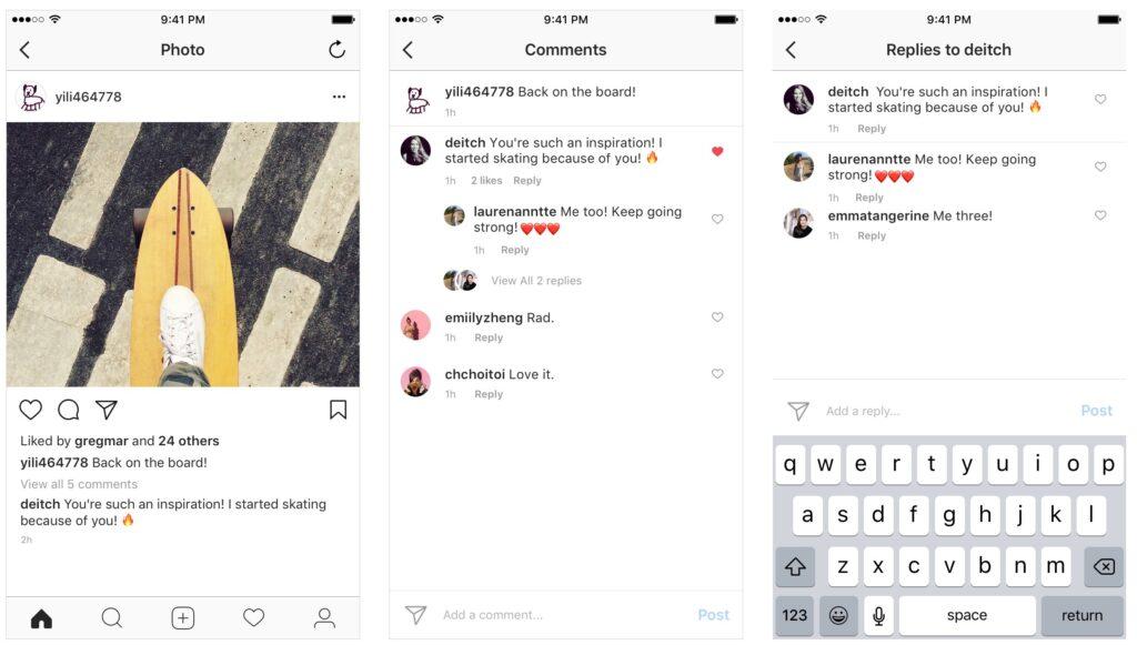 """Instagram astub veel ühe sammu """"Facebookiseerimise"""" poole, tutvustades kommentaarides ahelaid [atualizado]"""
