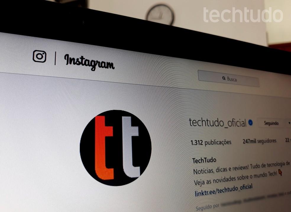 Instagrami veeb: teadke brauseri versioonis kõike, mida saate teha Foto: Ana Letcia Loubak / TechTudo