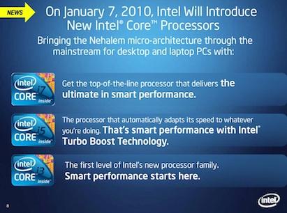 Intel Roadmap untuk 2010