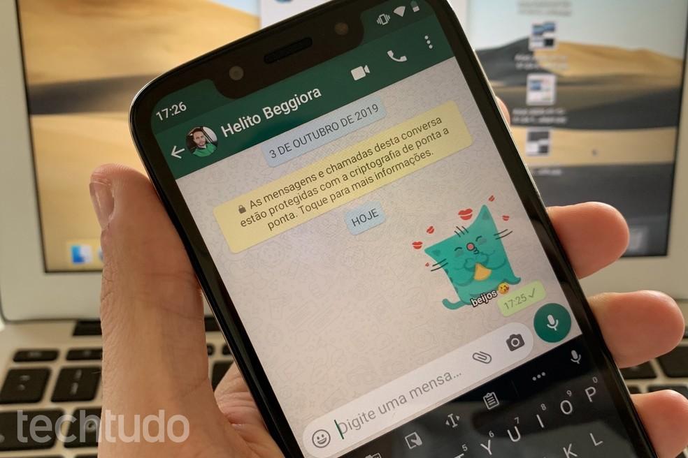 Kleebis saabus telegrammi kolm aastat varem. Foto: Helito Beggiora / TechTudo
