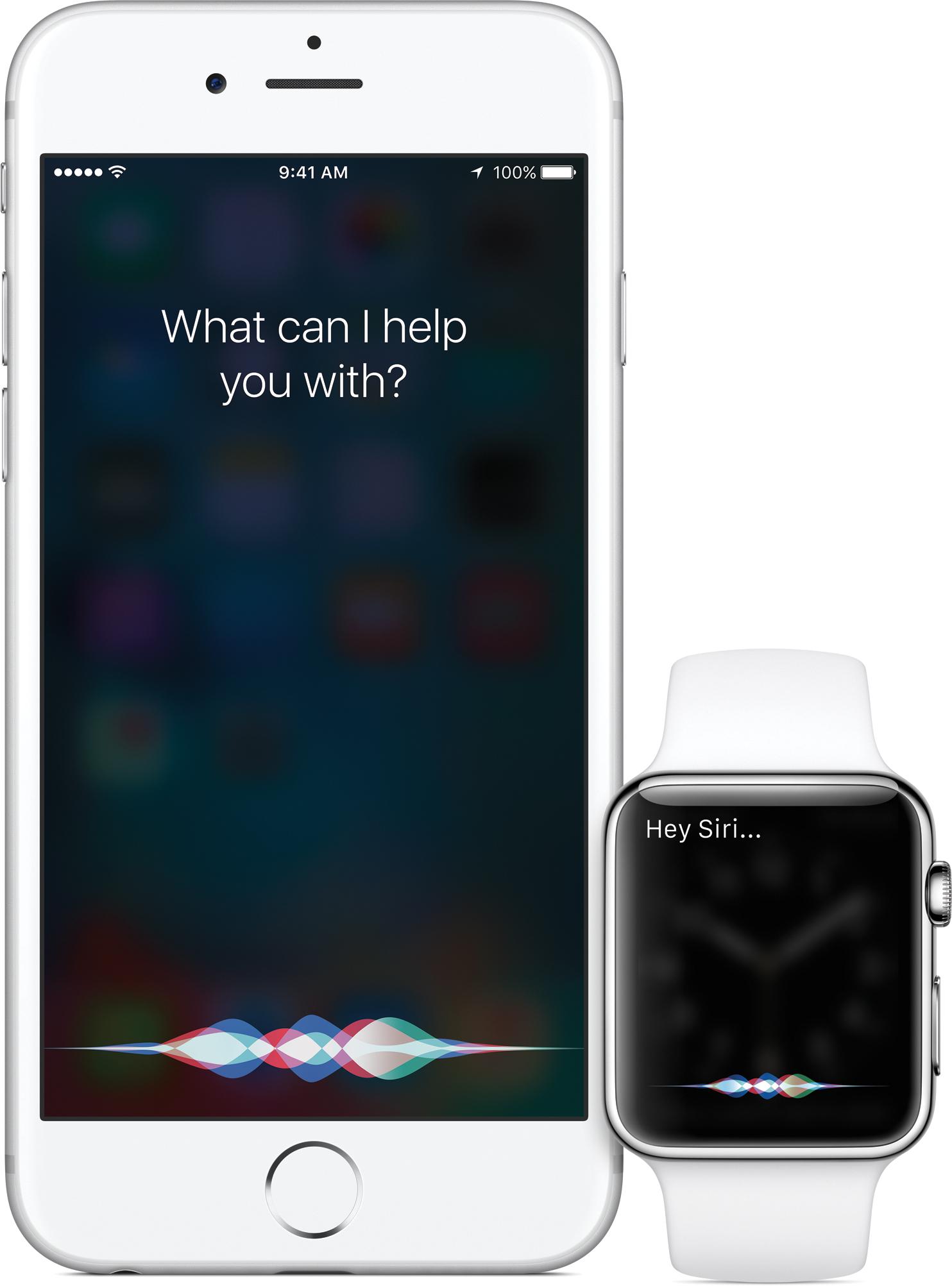 Siri iPhone'is iOS 9 ja watchOS2 Apple Watchis