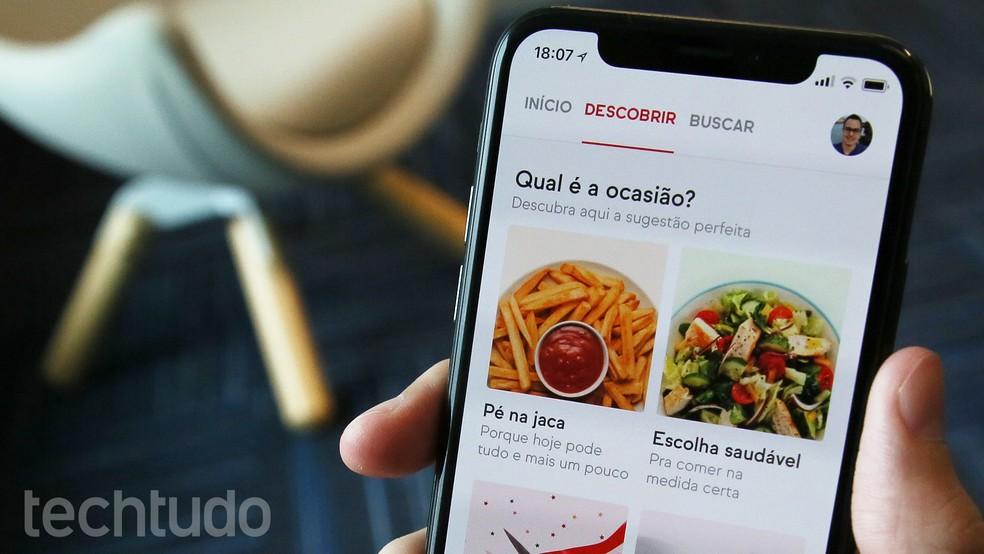 iFood valiti parimaks mobiilseks toidu kohaletoimetamise rakenduseks Foto: Ana Marques / TechTudo
