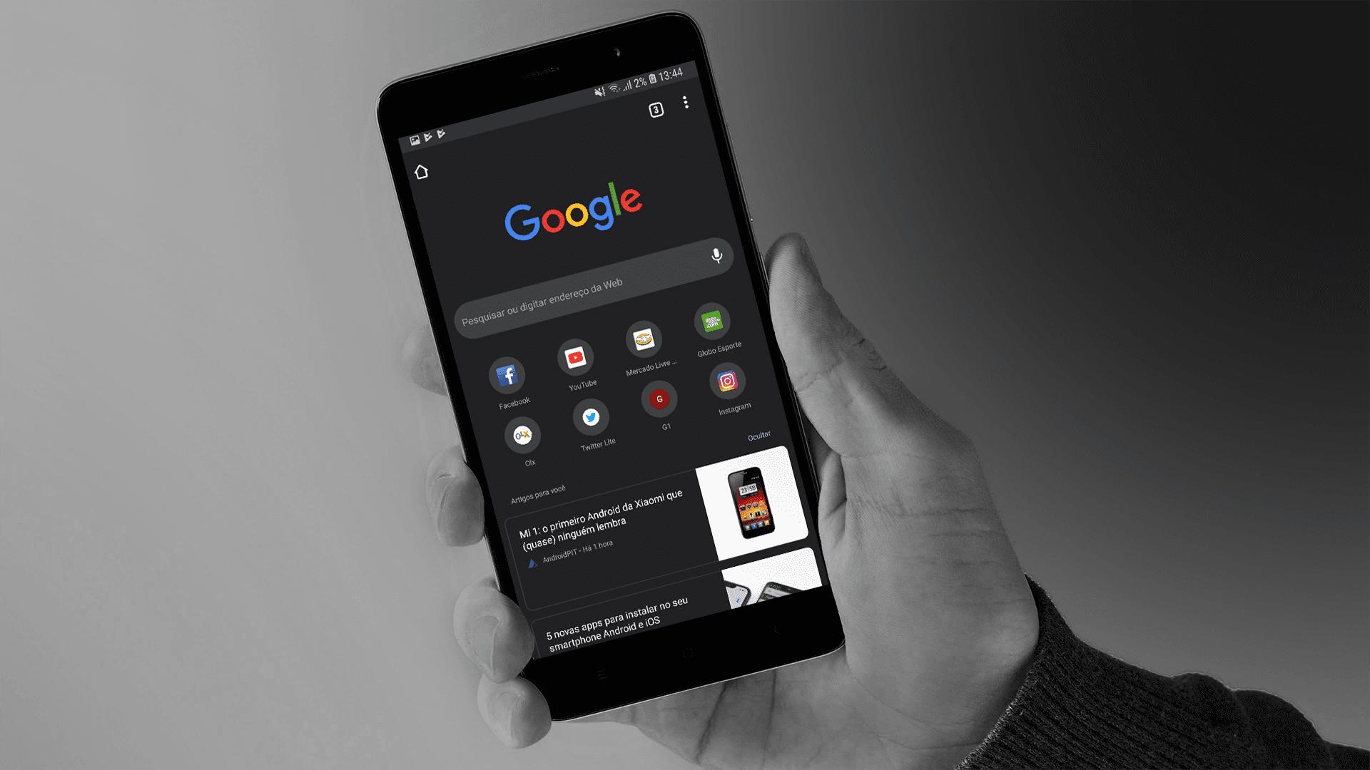 Kuidas aktiveerida Androidi Chrome'is peidetud tume teema