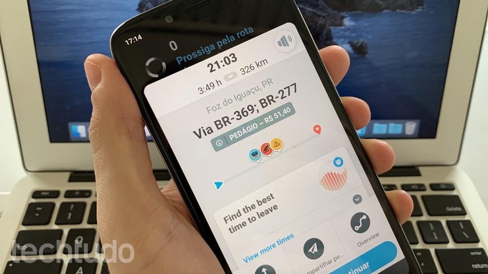 Õpetus näitab, kuidas Waze'is teemaksu arvutada. Foto: Helito Beggiora / TechTudo