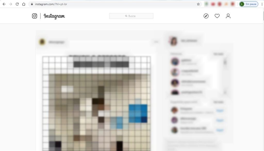Brauseri Instagrami versioonis pole juurdepääs vestlusele ega isegi fotode postitamiseks