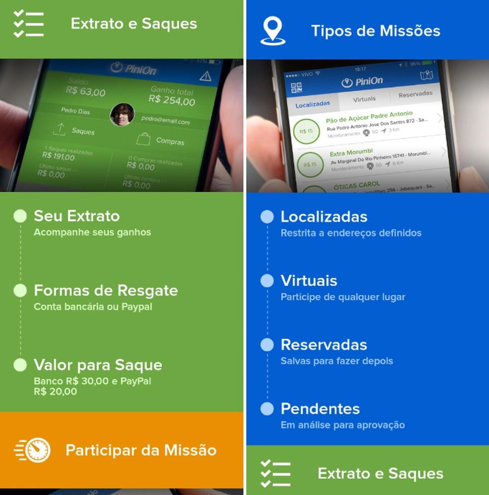 """Rakendus """"PiniOn"""" võimaldab teil koguda makseid pangakontode ja PayPali fotode kaudu: Reproduo / Daniel Dutra"""