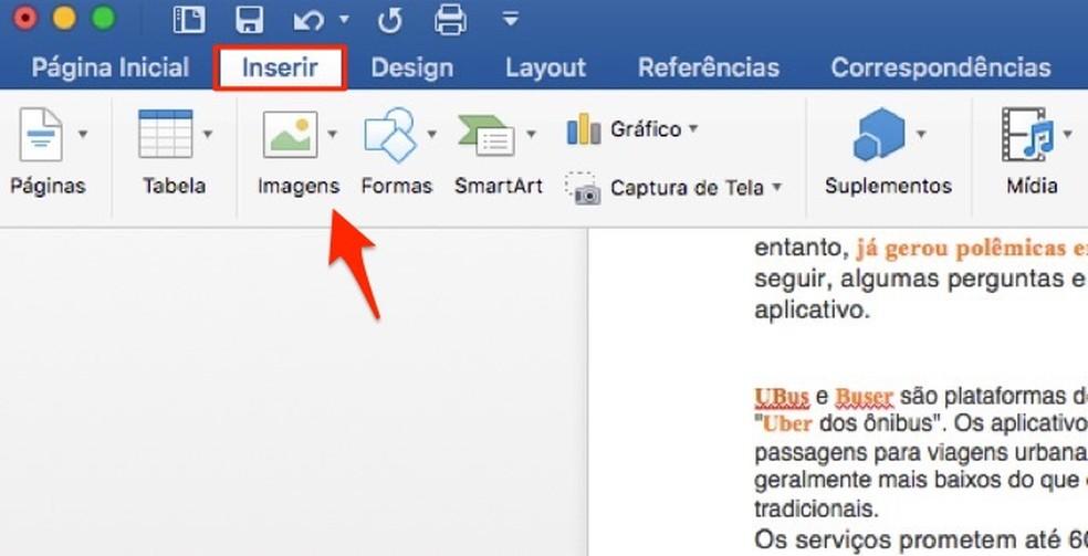 Millal käivitada tööriist piltide lisamiseks Wordi fotodokumenti: Reproduo / Marvin Costa