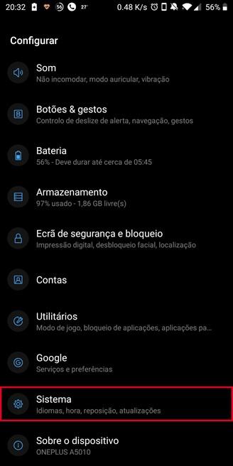 Android 9 seadete ekraan