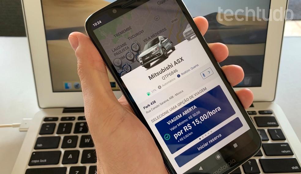 Siit saate teada, kuidas kasutada Turbi rakendust auto rentimiseks. Foto: Helito Beggiora / TechTudo