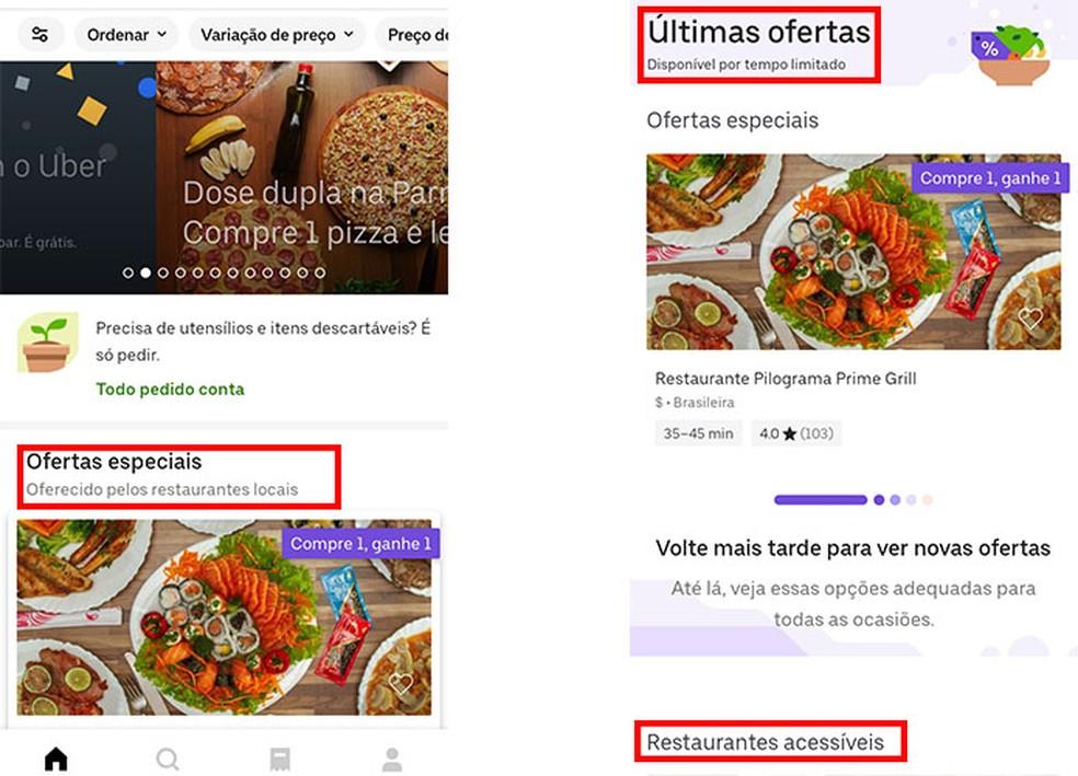 Minge jaotisse Uber Eats eripakkumised ja tellige oma toit foto allahindlusega: Reproduo / Fernanda Lutfi