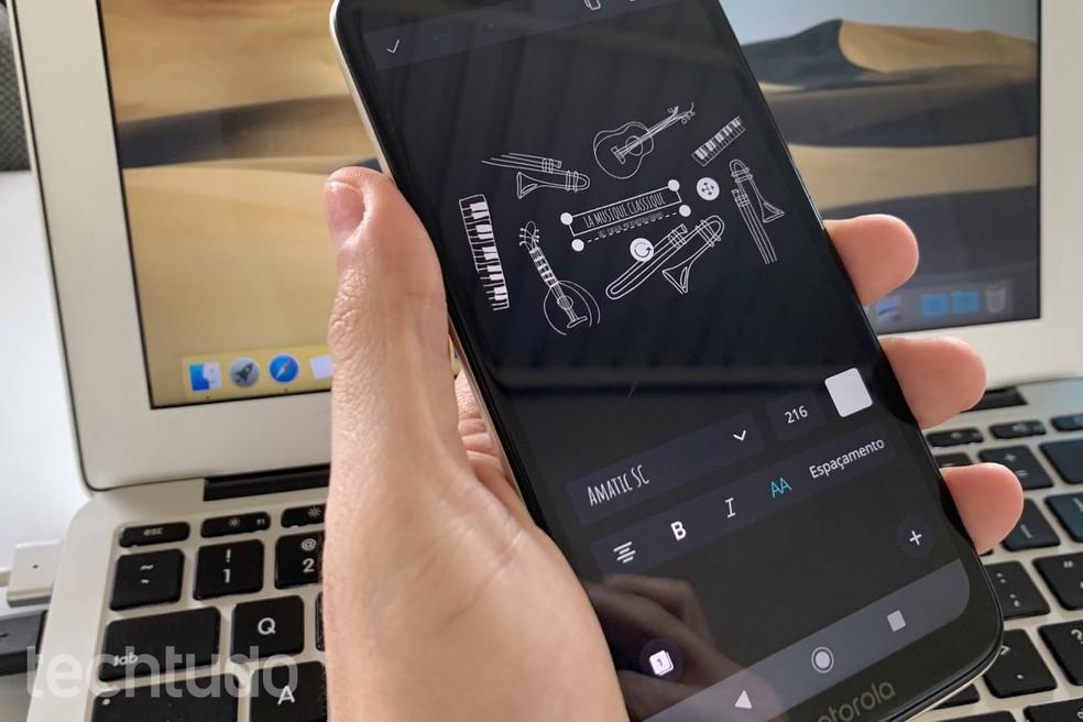 Siit saate teada, kuidas Canvat kasutada oma mobiiltelefonil YouTube'i ribareklaamide tegemiseks. Foto: Helito Beggiora / TechTudo