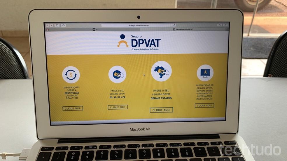 Siit saate teada, kuidas välja anda boleto ja maksta DPVAT 2020 kindlustusele. Foto: Helito Beggiora / TechTudo