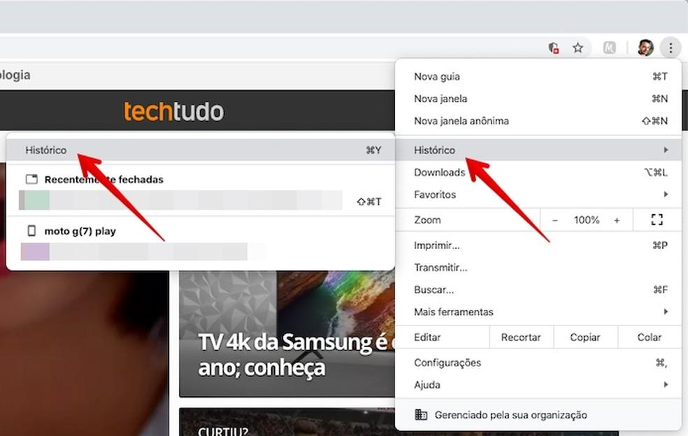Juurdepääs Chrome'i ajaloo fotodele: Reproduo / Helito Beggiora