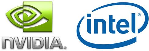 NVIDIA ja Inteli logod