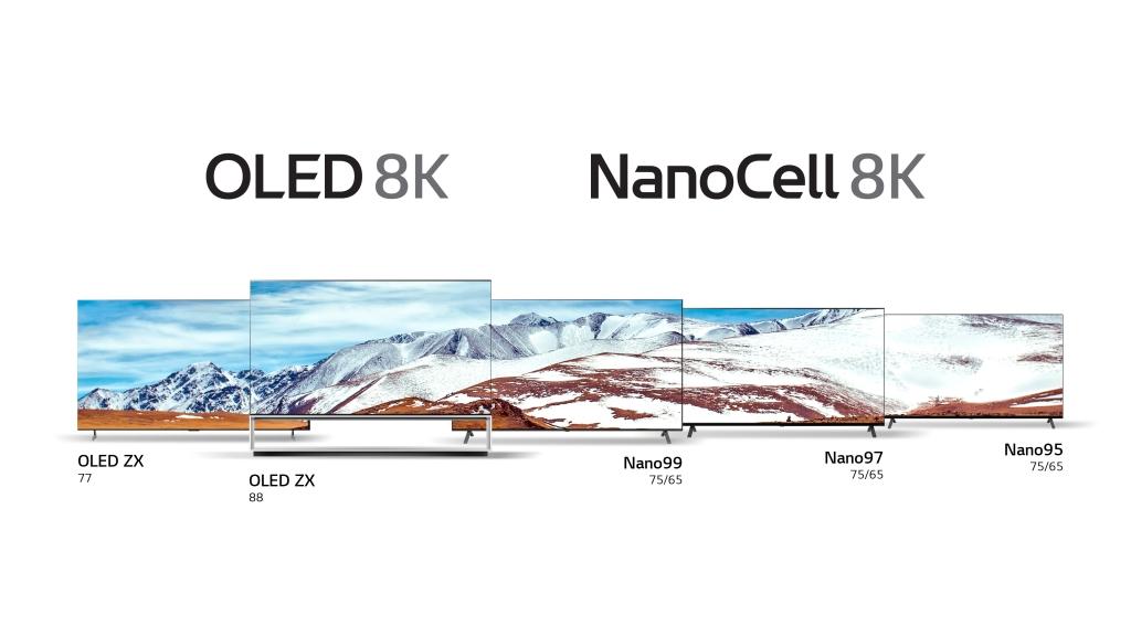 LG esitleb ajavahemikul 7. – 10. Jaanuaril CES 2020 kaheksat 8K telerit.