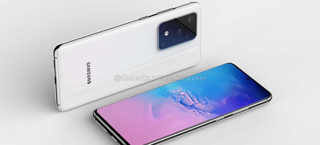 Leak näitab Samsung Galaxy S11 esipaneeli