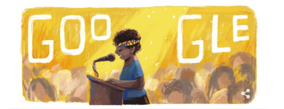 Lelia Gonzalez sai oma 85. sünnipäeval mälestusmärgi. Foto: Reproduo / Google