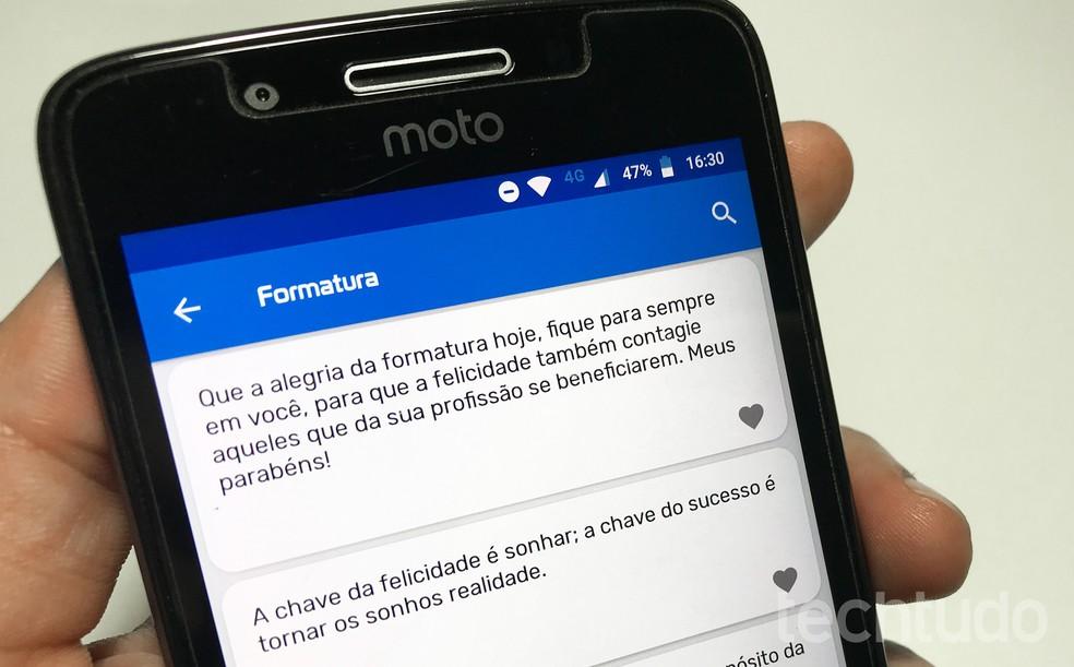 Androidi ja iPhone'i jaoks saadaval lõpetamiskutsete fraasidega foto: Rodrigo Fernandes / TechTudo