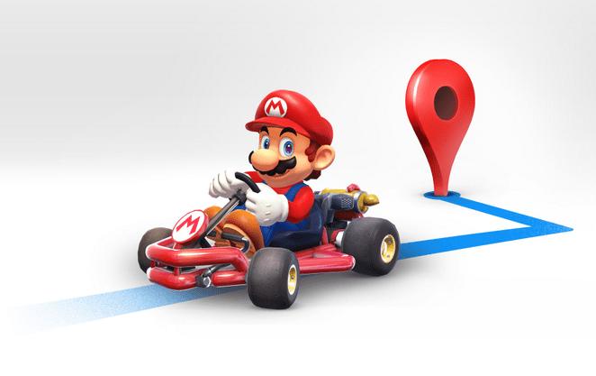 Mario aitab teid Google Mapsis juhiste saamiseks
