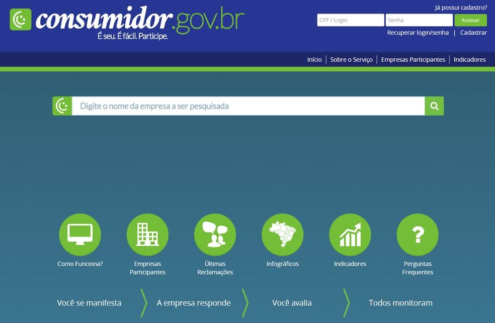 Mida teeb veebileht Consumidor.gov.br? Külastage kaebuste veebisaiti Foto: Reproduo / Ana Letcia Loubak