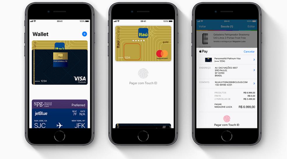 Makseid on võimalik teha füüsilises kaupluses või mõnes iPhone (iOS) rakenduses Foto: Divulgao / Apple