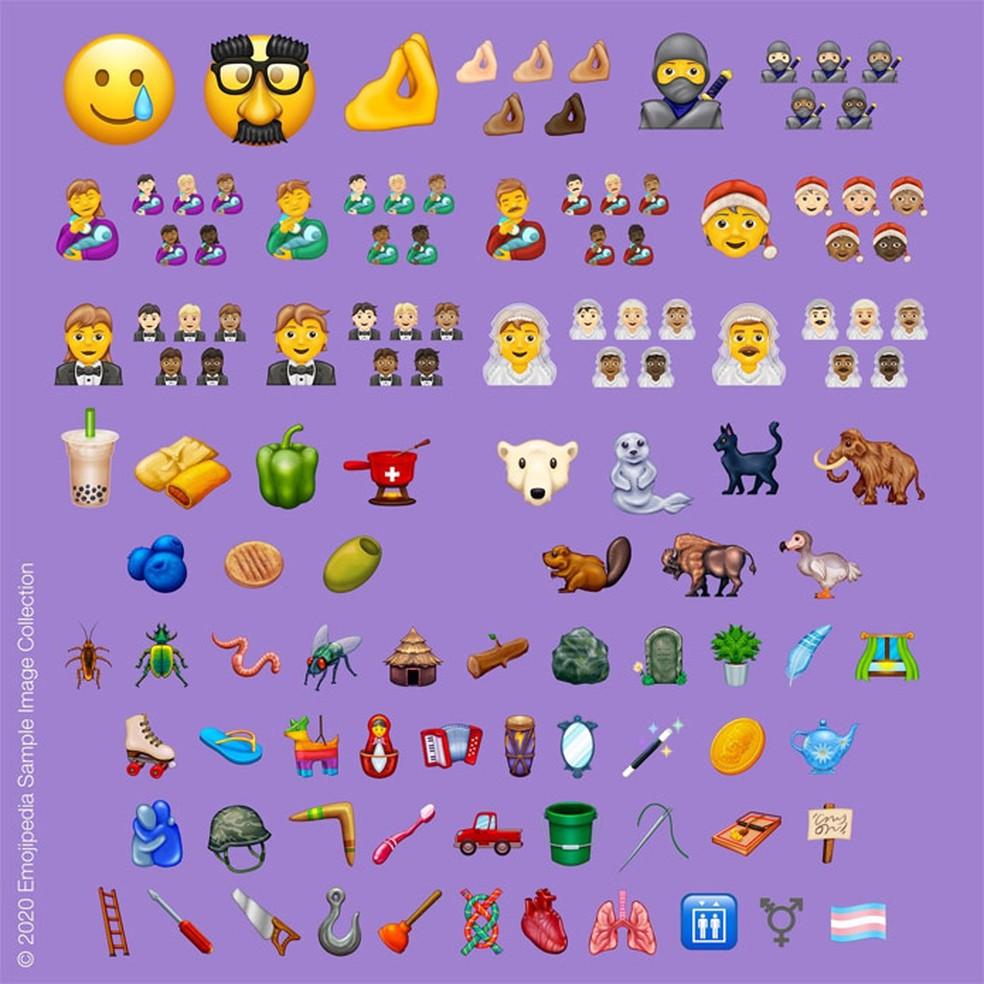 Emoji 13.0 toob kaasavama kujunduse. Foto: Divulgao / Unicode