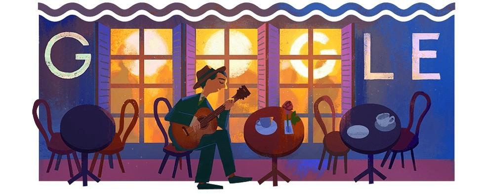 Doodle austas Noel Rosa 109. sünnipäeva Google Photosi kodulehel: Reproduo / Google