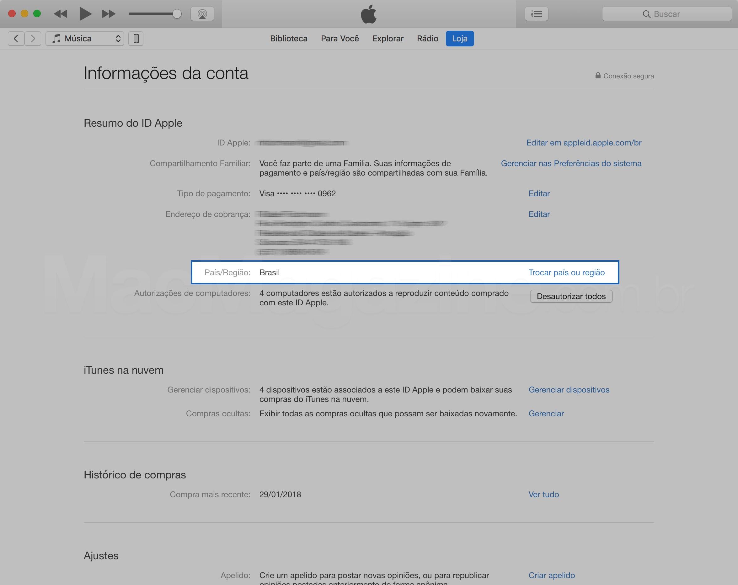 Lülitage riik iTunes'i sisse
