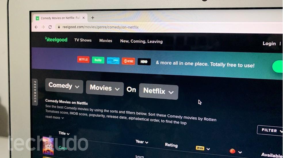 Siit saate teada, kuidas leida parimaid vahefilme Netflixist Reelgoodiga. Foto: Helito Beggiora / TechTudo