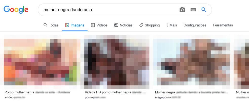 Google'i otsingu tulemuseks olid fotode selged seksipildid: Reproduo / TechTudo