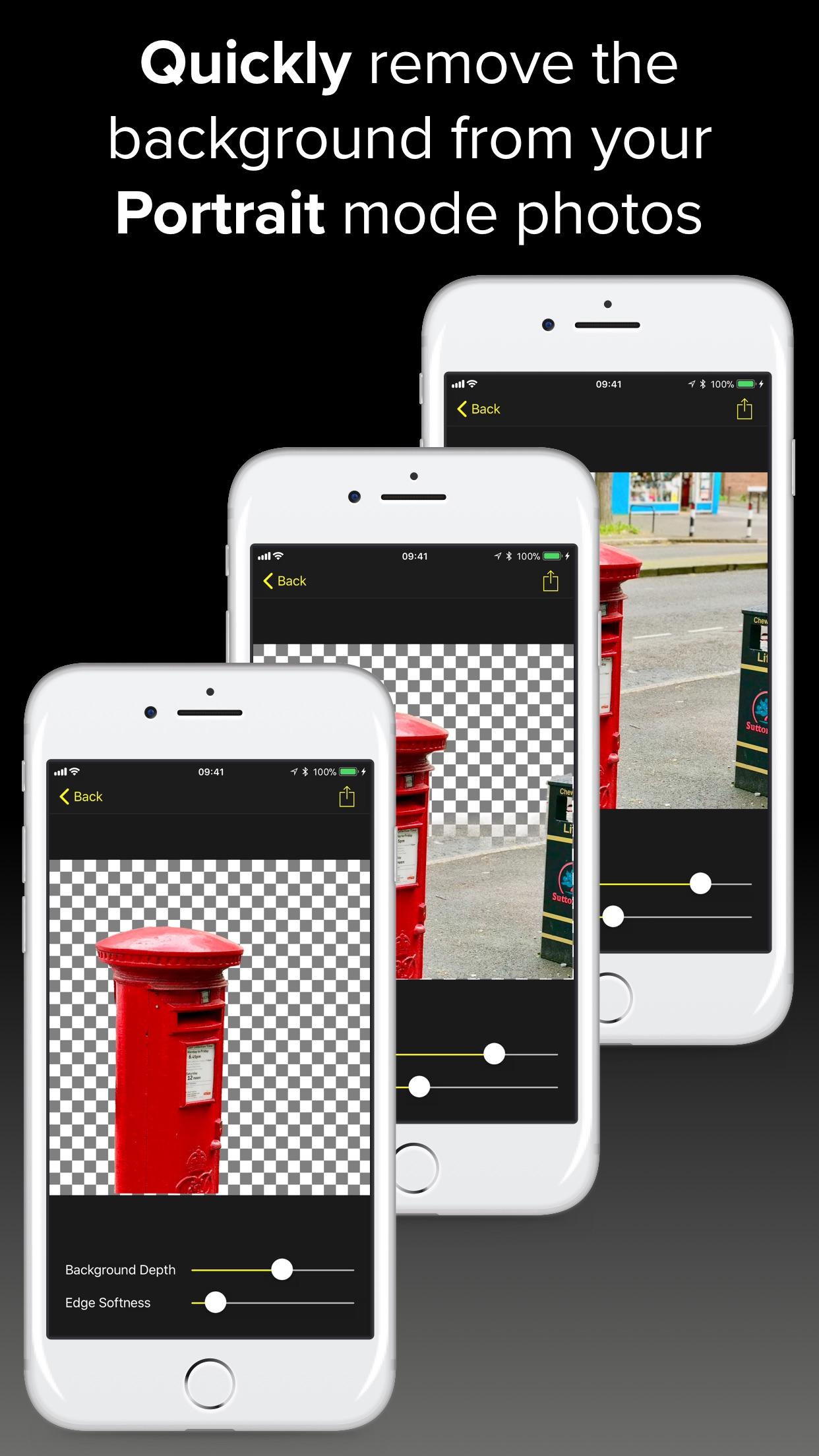 Rakenduse Depth Background Eraser ekraanipilt