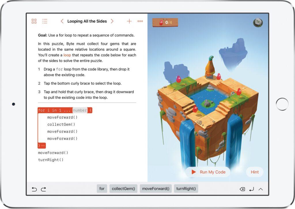 Rakendust Swift Playgrounds värskendatakse viie uue keelega, kuid portugali keel nende vahel puudub
