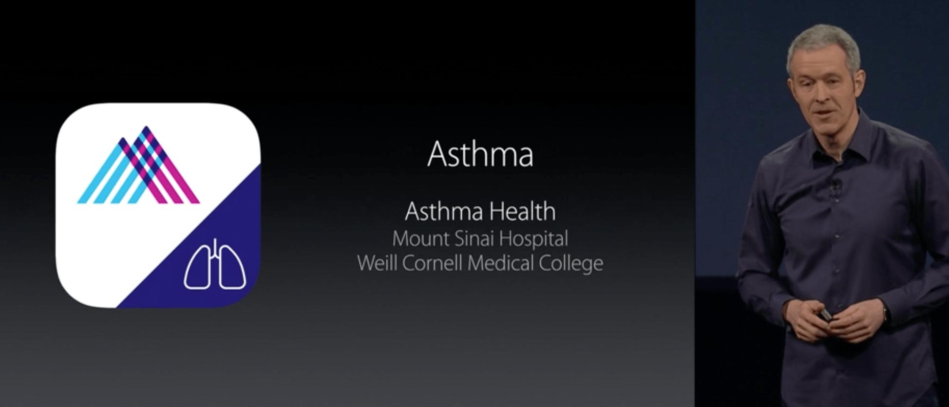 Asma Asma dan ResearchKit dalam keynote Apple