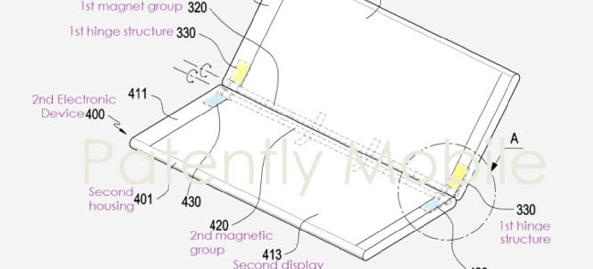 Samsung lõi nutitelefonidele magnetilised hinged, mida saab kokku voltida