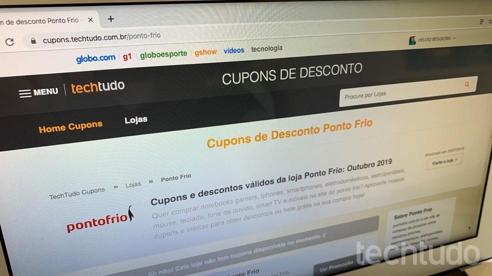 Internetis kupongide otsimine aitab teil säästa raha reedel 2019 Foto: Helito Beggiora / TechTudo