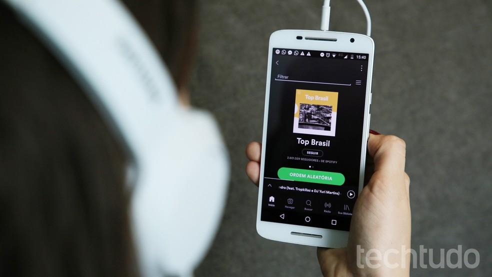 Spotify valiti parimaks mobiilse muusika voogesituse rakenduseks Foto: Anna Kellen Bull / TechTudo