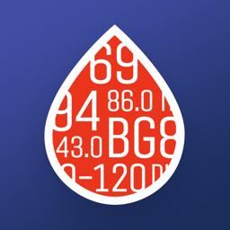 Glükoosisuhe + rakenduse ikoon: diabeet