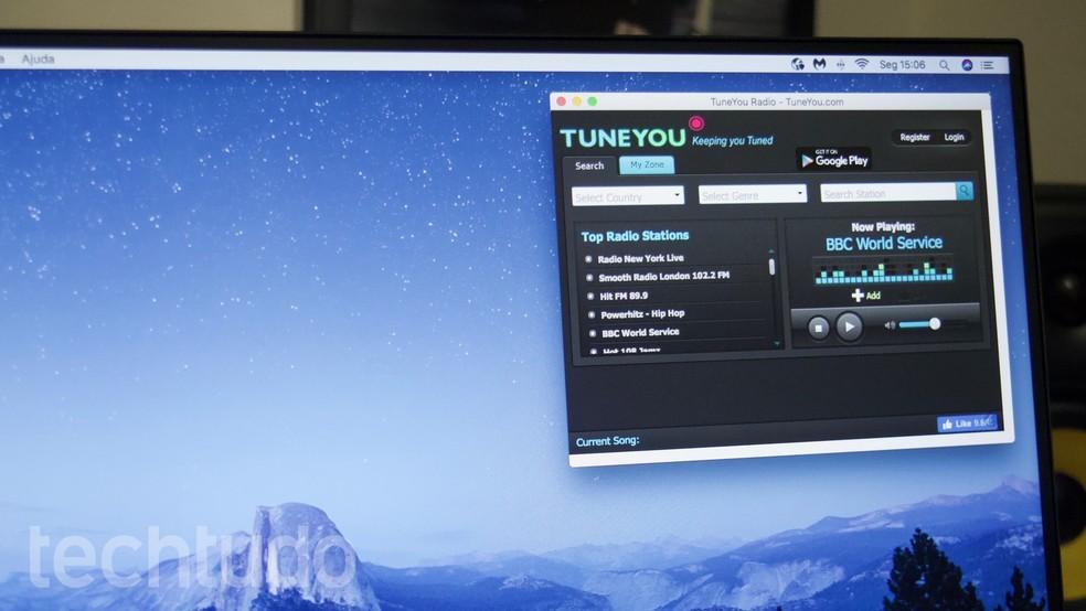 Õpetus näitab, kuidas kasutada laiendusi Chrome'is tasuta veebiraadio kuulamiseks. Foto: Marvin Costa / TechTudo