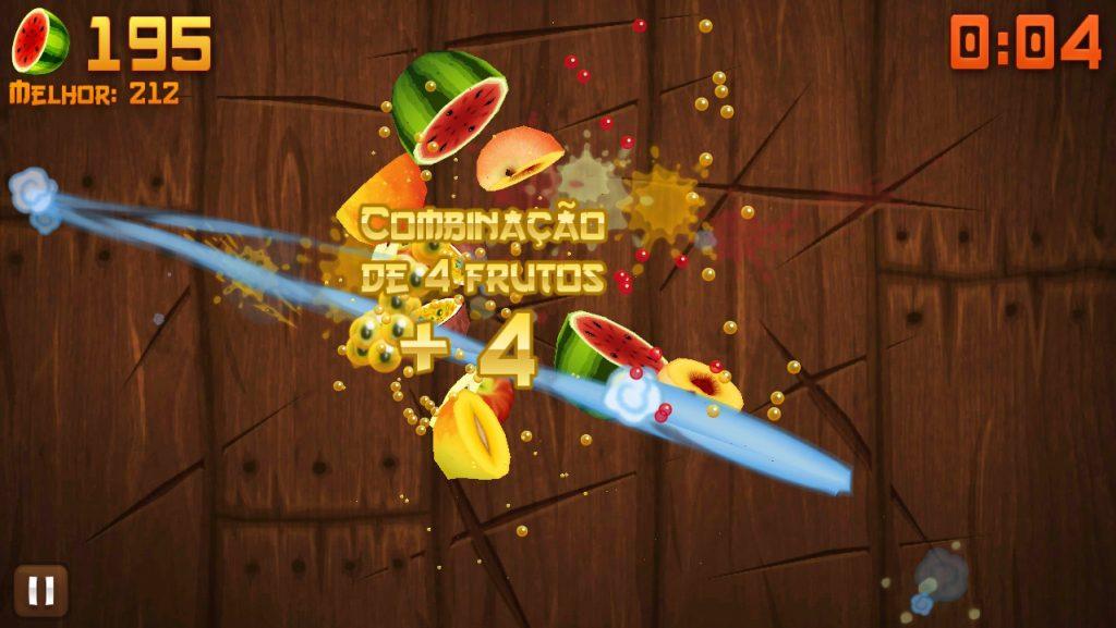 Fruit Ninja viilutab puuviljad 4 ekraanikomboga