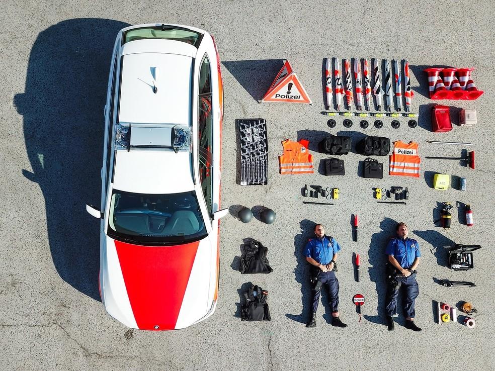 Tetrise väljakutse algab Zürichi politsei, Sua, postitusega Facebookis Foto: Reproduo / Facebook