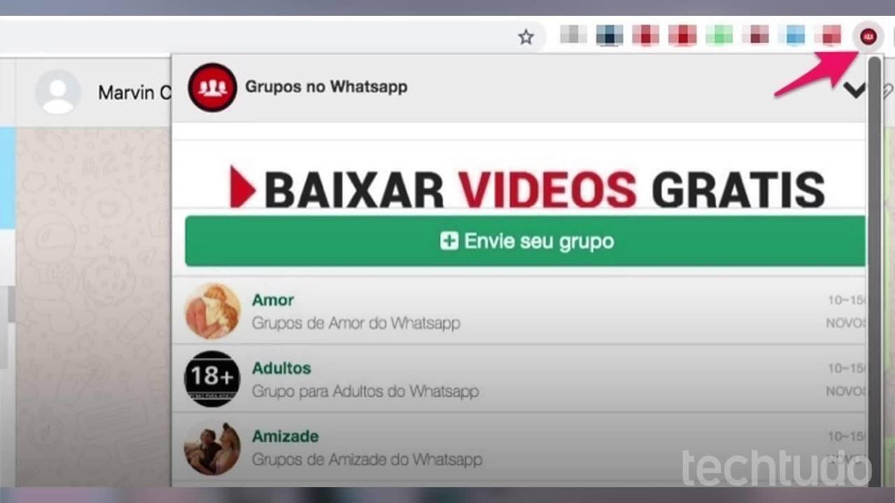 Kuidas Chrome'i pistikprogrammi abil WhatsAppis töörühmi leida