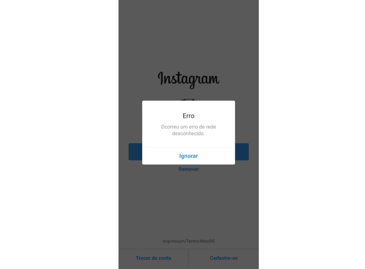 Tundmatu võrgu viga? Instagramis ja Facebookis on sisselogimisega probleeme. | Sotsiaalmeedia