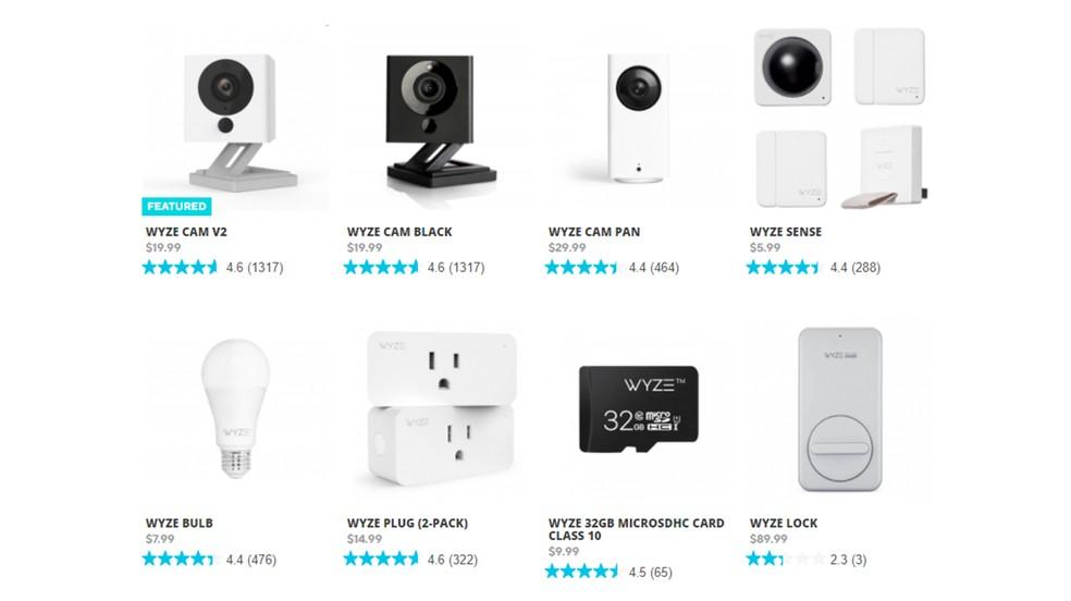 Wyze müüb kaameraid, nutiklahve, tulesid ja pistikupesasid.Foto: Reproduo / Wyze